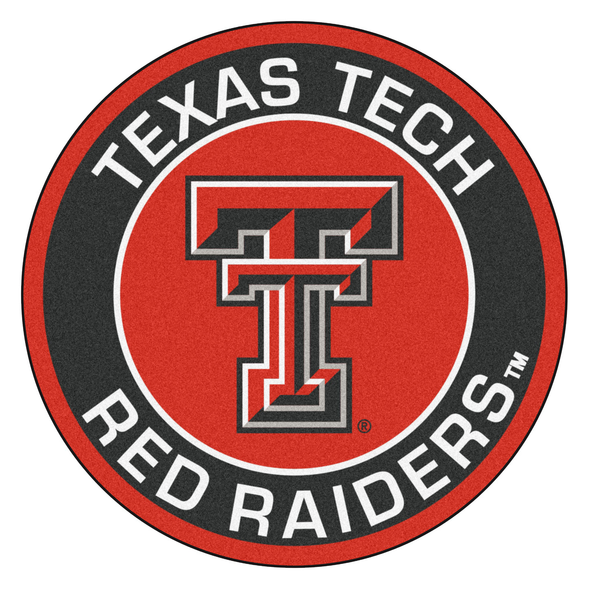 Texas Tech University Red Raiders Logo Roundel Mat.