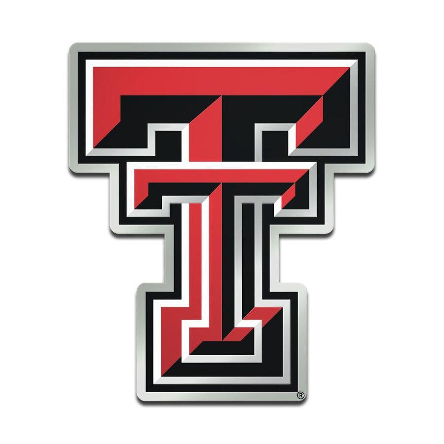 Texas Tech Red Raiders Metallic Freeform Logo Auto Emblem.