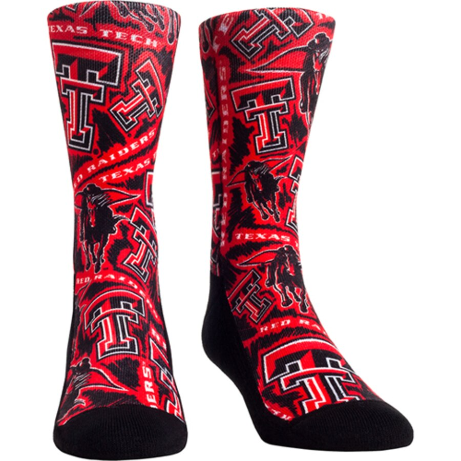 Women\'s Red Texas Tech Red Raiders Logo Sketch Crew Socks.