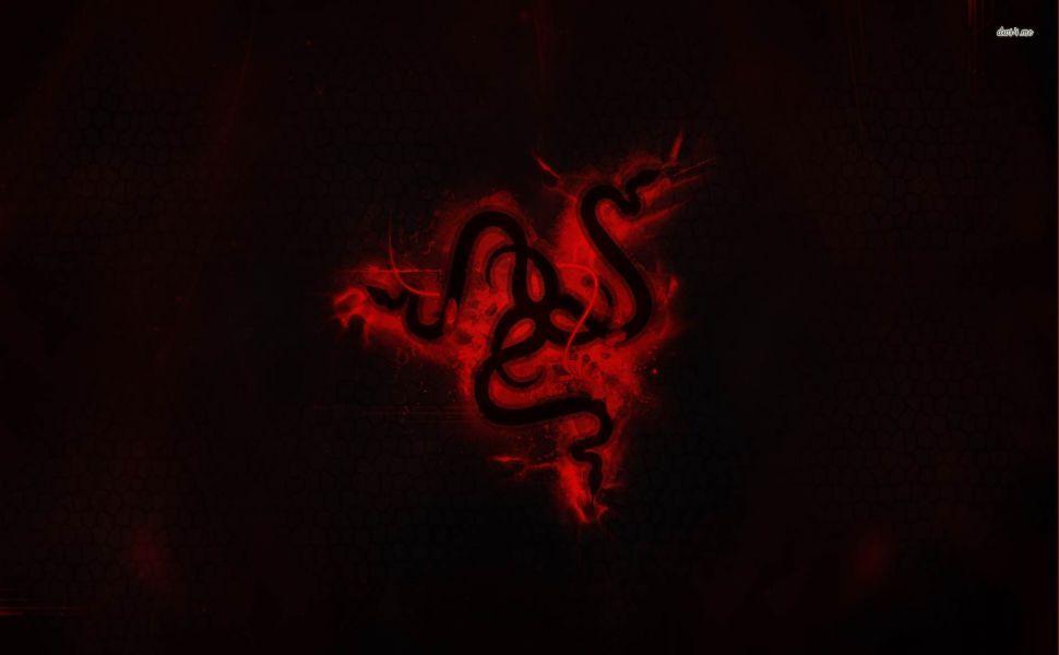 Red Razer logo HD Wallpaper.