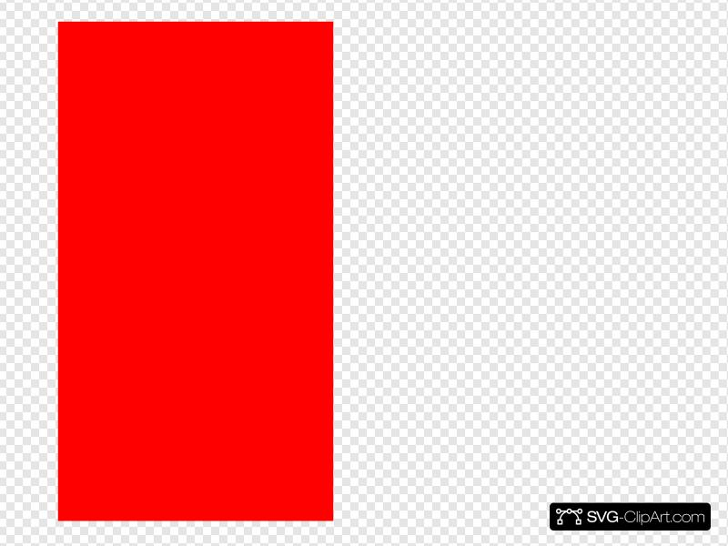 Red Rectangle Vertical Clip art, Icon and SVG.
