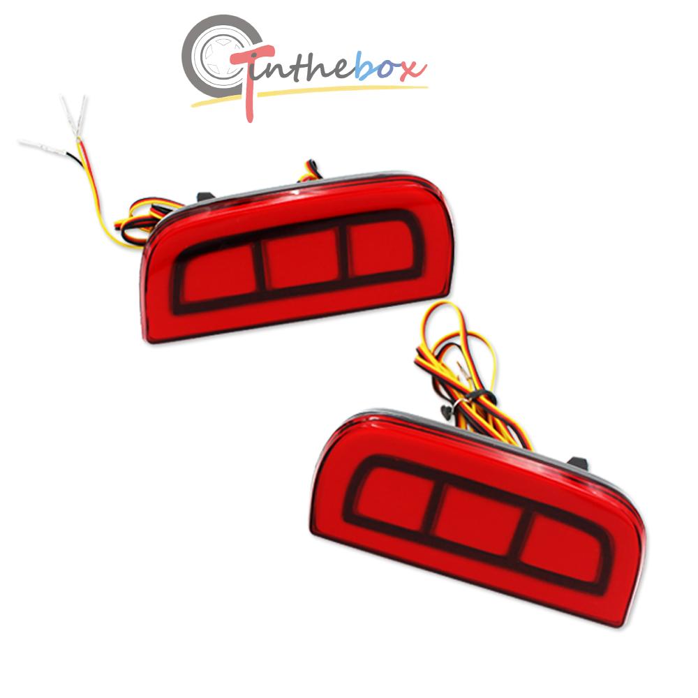 JDM Style Red LED Bumper Reflector Rear Marker Lights For 16.