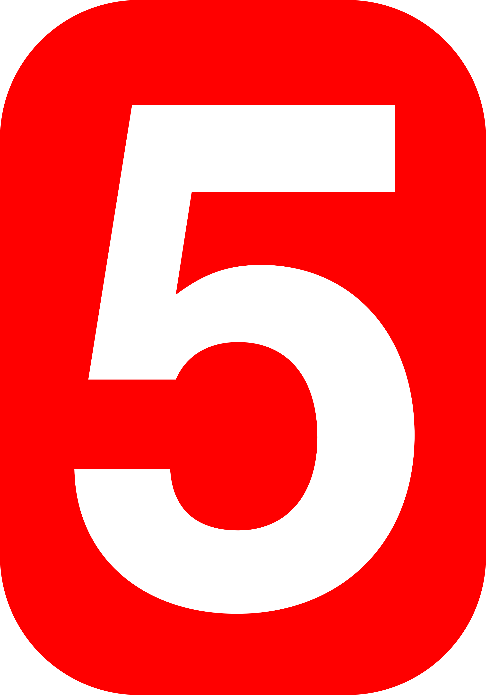 File:5 white, red rounded rectangle.svg.