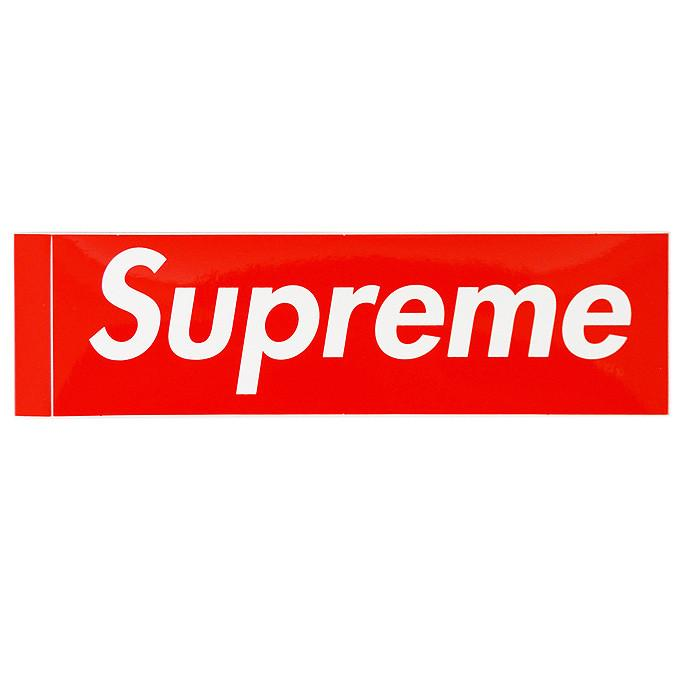 Supreme Box Logo Sticker Red.