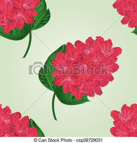 Vectors of Seamless texture twig red rhododendron vector.eps.