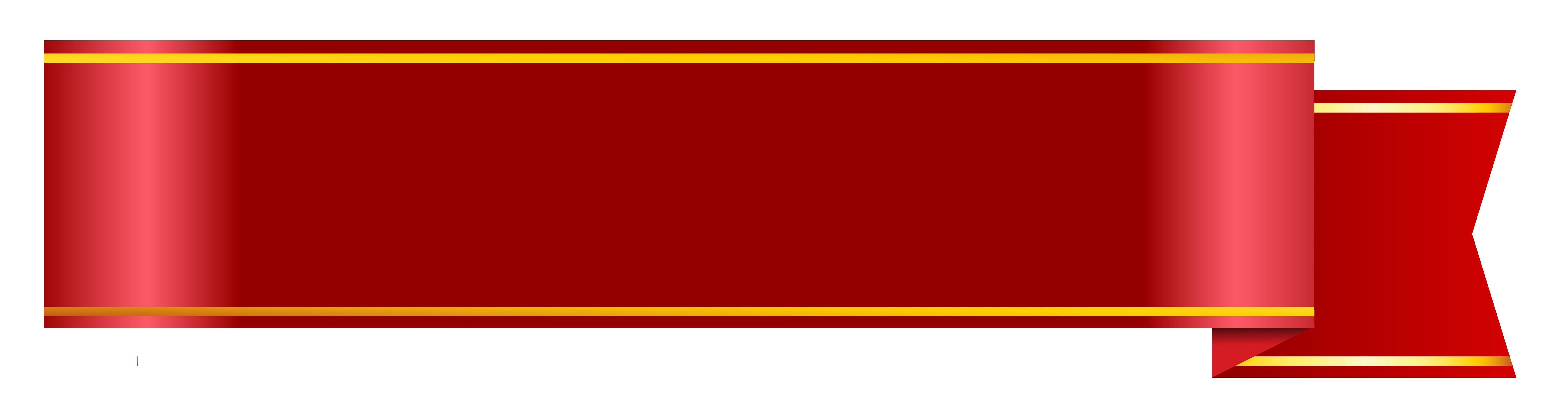 Red Ribbon Banner Transparent Background.