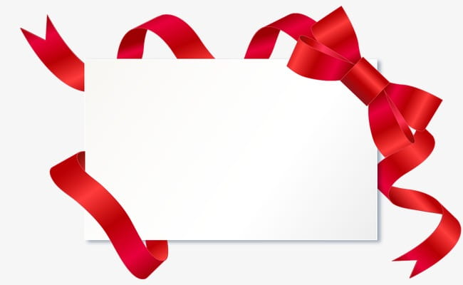 Red ribbon border signs PNG clipart.