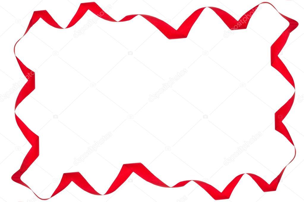 Red Ribbon Border Clipart.