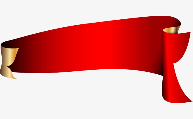 Red Ribbon Vector, Gules, Red Silk Strip, Label PNG and.