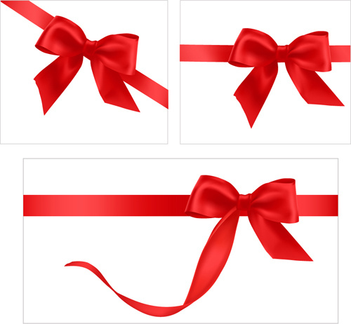 Gift card with red ribbons design vector Free vector in.