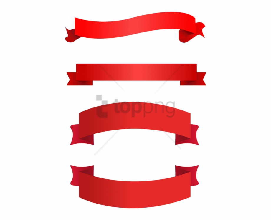 Free Png Red Ribbon Vector Png Image With Transparent.