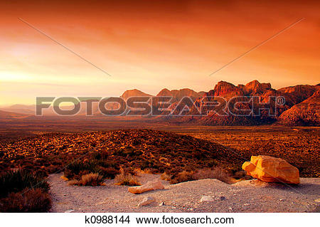 Stock Photo of Red Rock Canyon, Nevada k0988144.