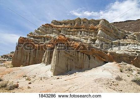 Stock Images of Rock formation in Red Rock Canyon State Park, Kern.