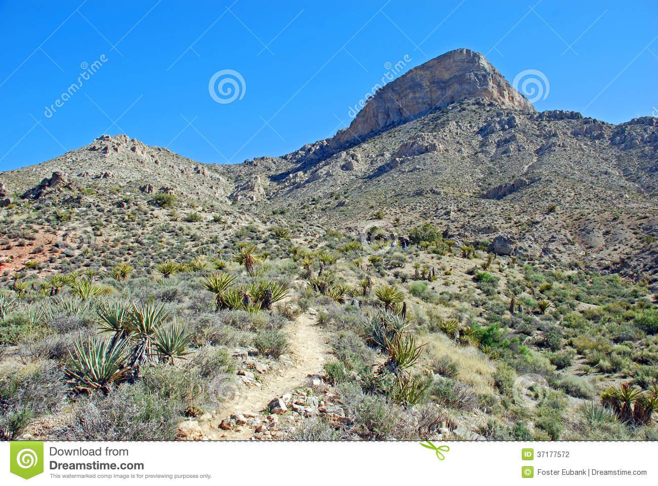 Turtlehead Peak In Red Rock Canyon, Las Vegas, Nevada Royalty Free.