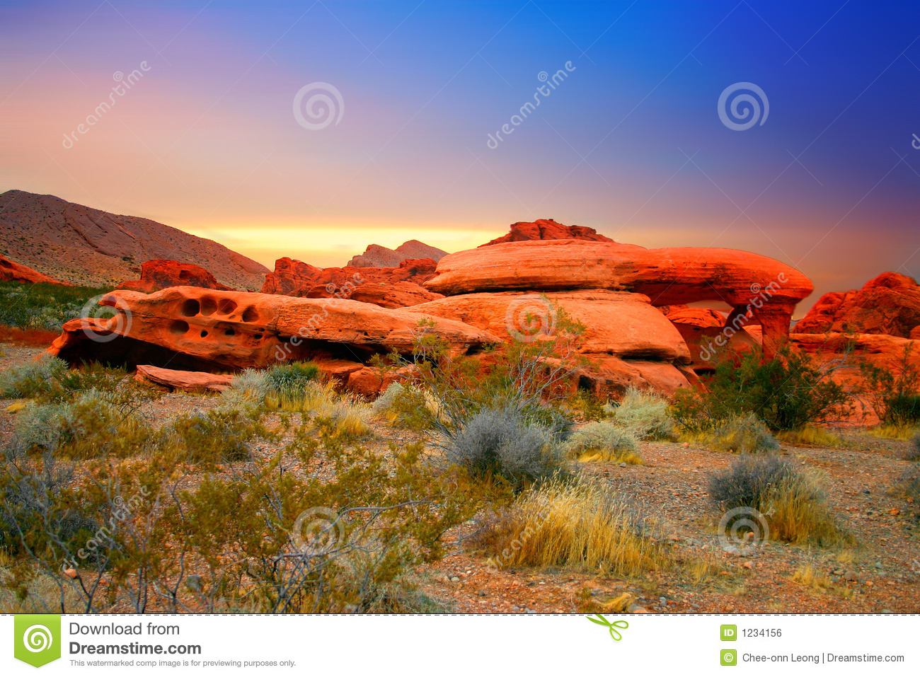 Red Rock Canyon, Nevada Royalty Free Stock Image.