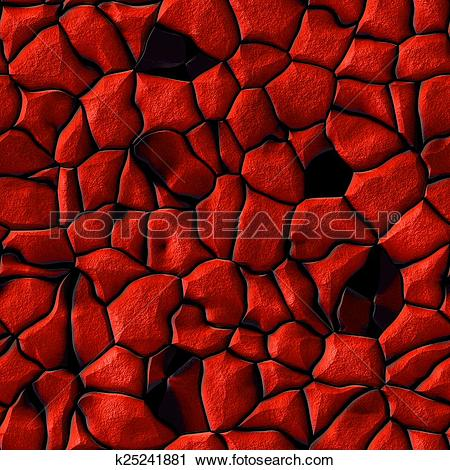 Clipart of Illustration of detailed red rock seamless pattern.