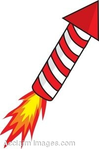 Red Rocket Firework Clipart.