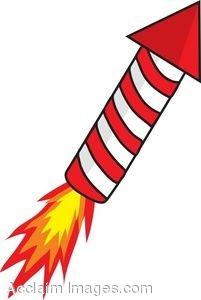 Red Rocket Firework Clipart.