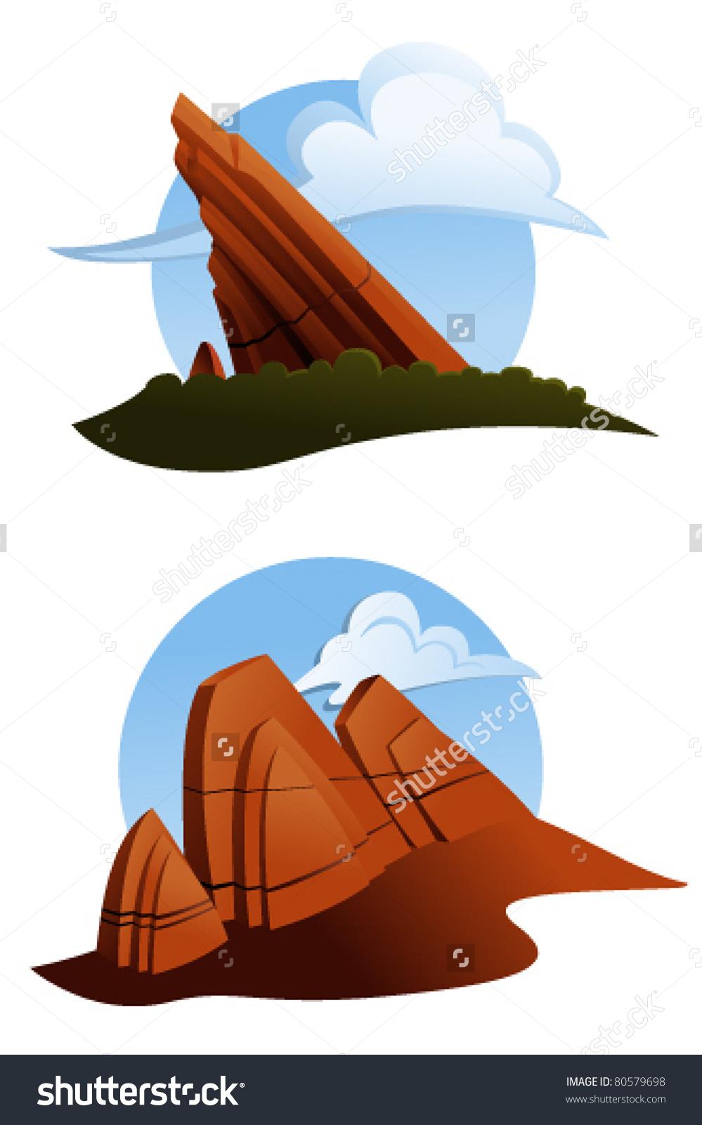 Red Rocks Colorado Stock Vectors & Vector Clip Art.