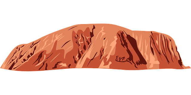 Free vector graphic: Uluru, Ayers Rock, Australia.