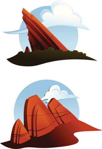 Red Rocks Clip Art, Vector Images & Illustrations.