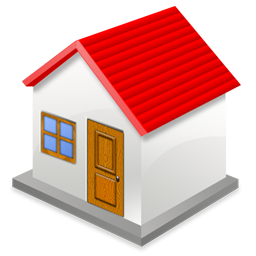 House With Red Roof Icon, PNG ClipArt Image.