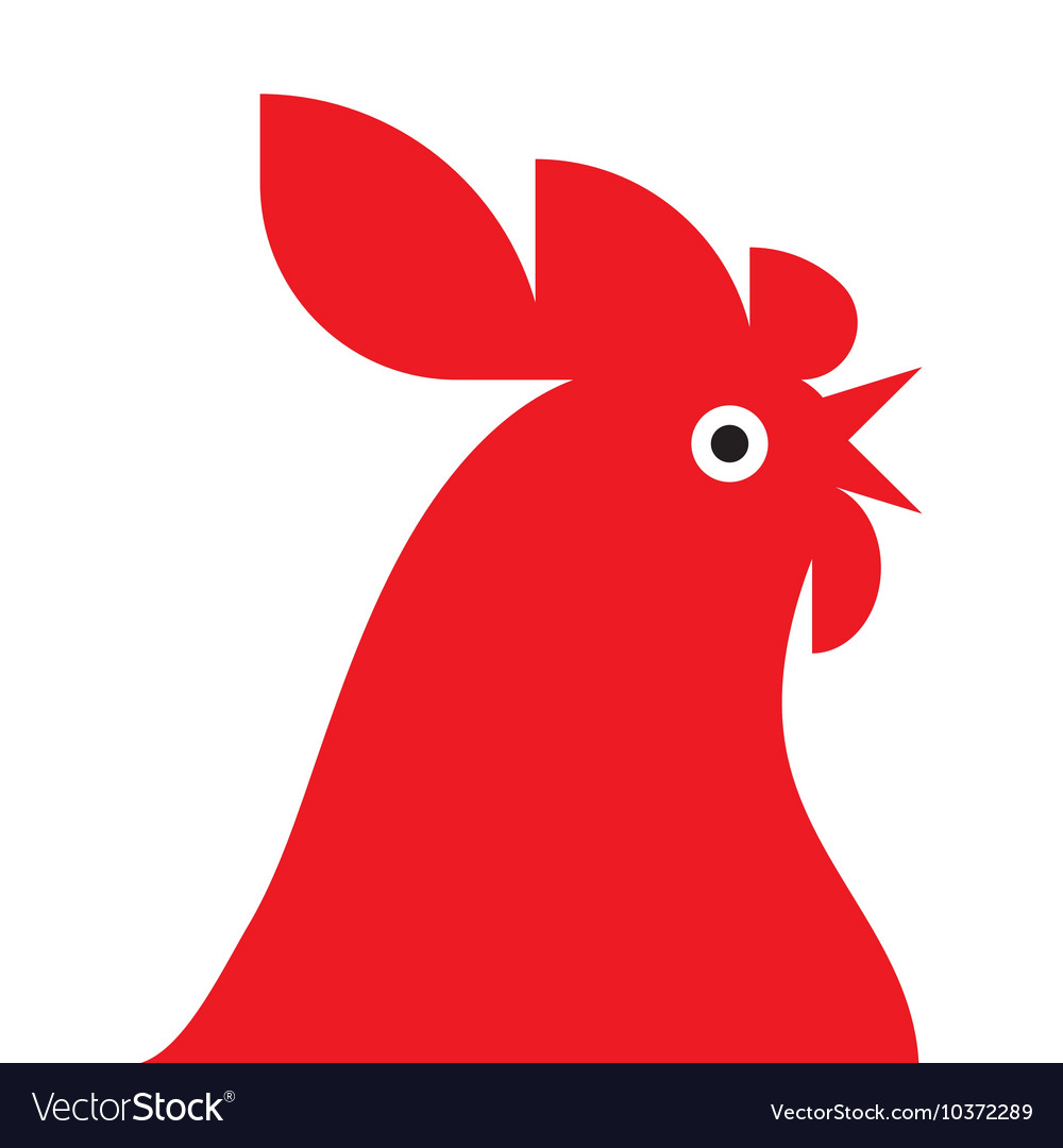 Red rooster Mascot.