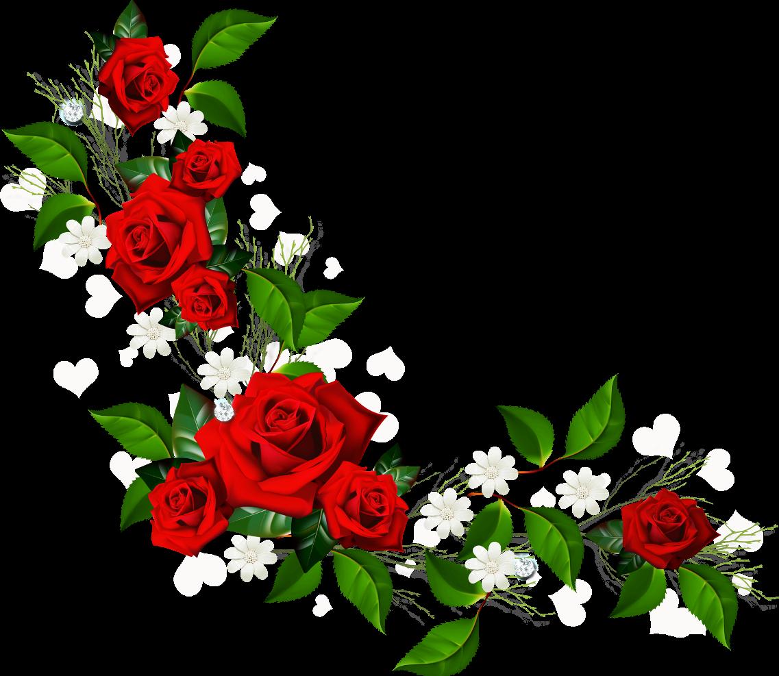Red Rose Border Clip Art.