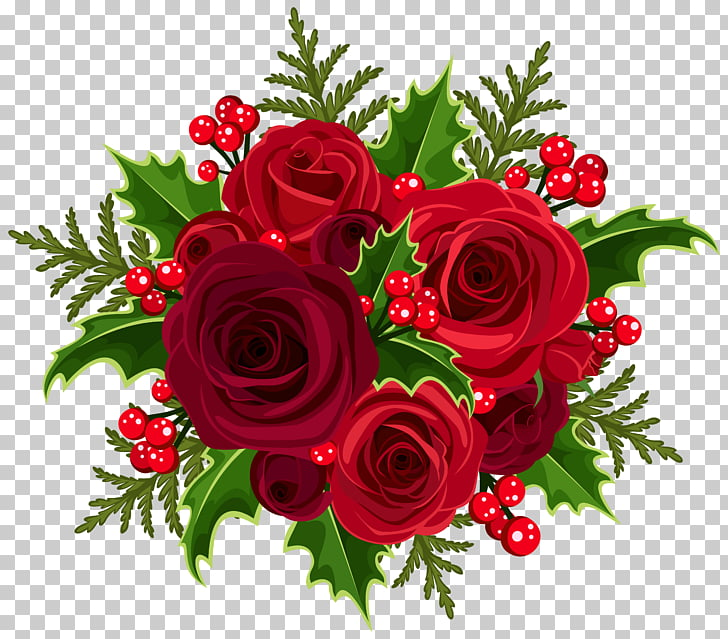 Christmas Rose Flower bouquet , Christmas Rose Decoration.