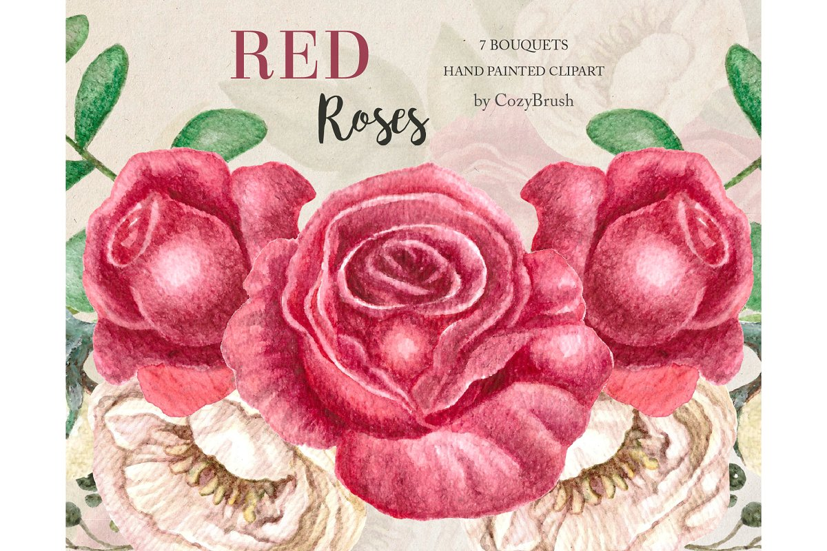 Red roses Bouquets clipart png.