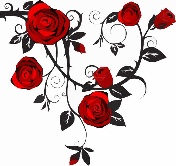 Rose Vine Clipart Free.