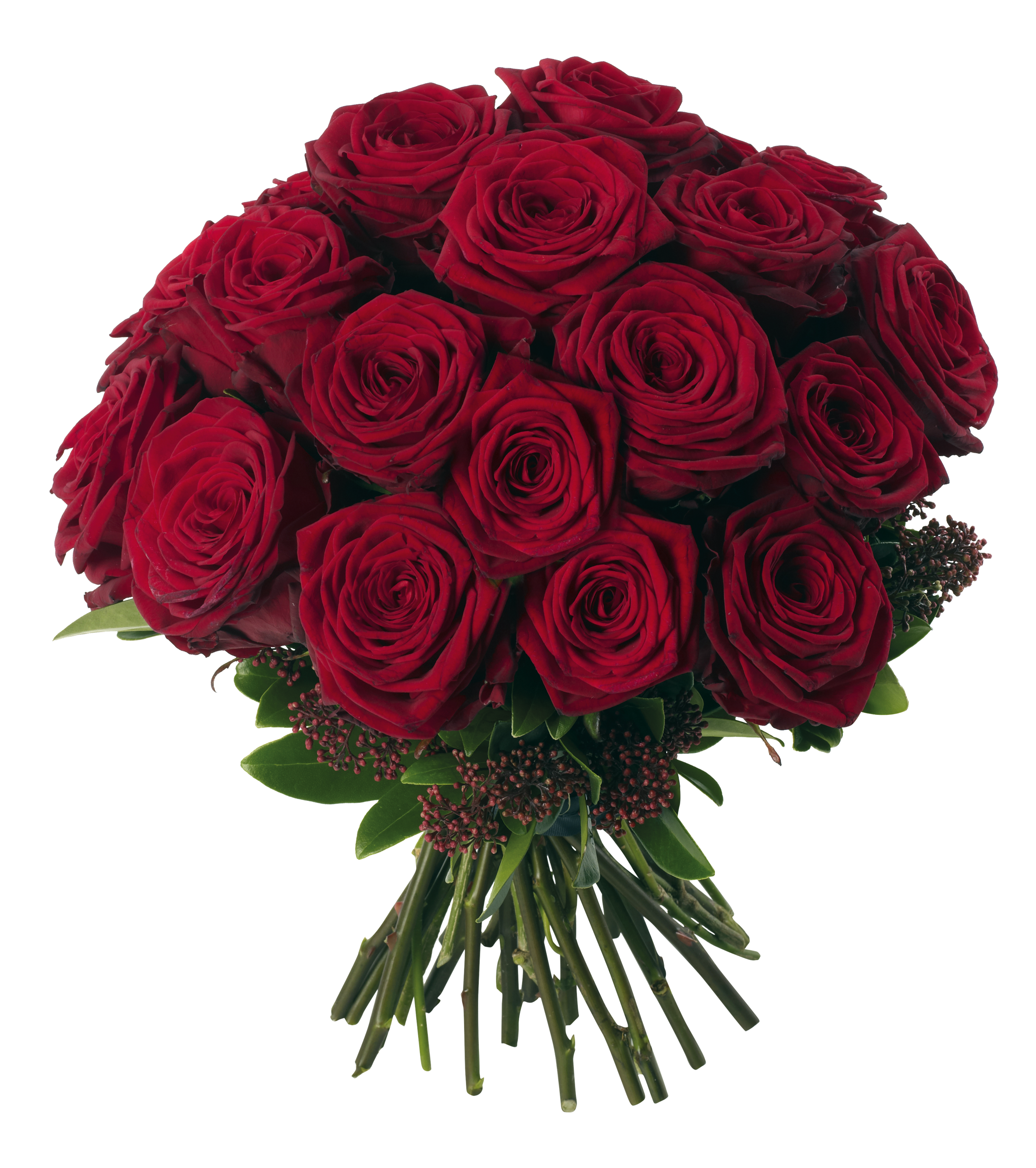 Transparent Red Roses Bouquet PNG Clipart Picture.
