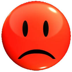 Red sad face clipart 3.
