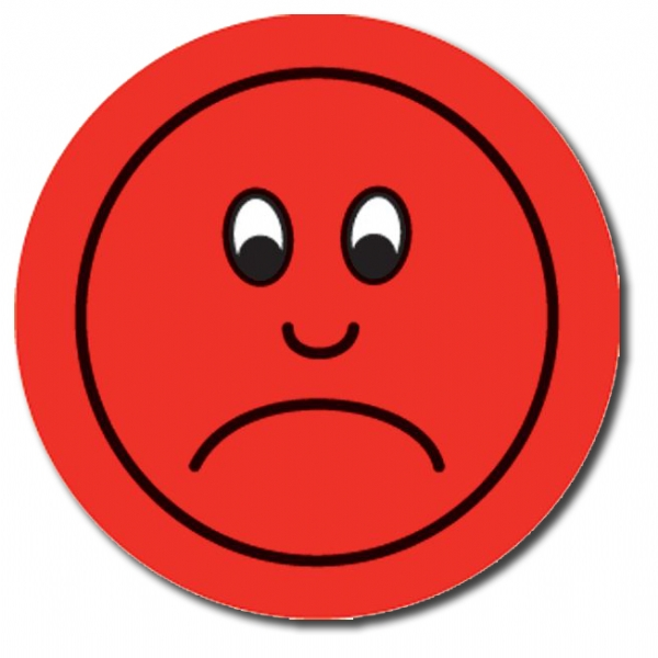 Red sad face clipart 2.