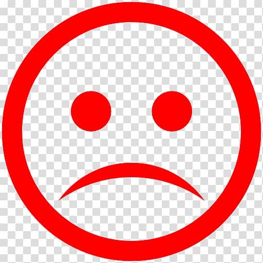 Round red sad emoji art, Sad transparent background PNG.