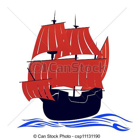 EPS Vectors of Red sails.