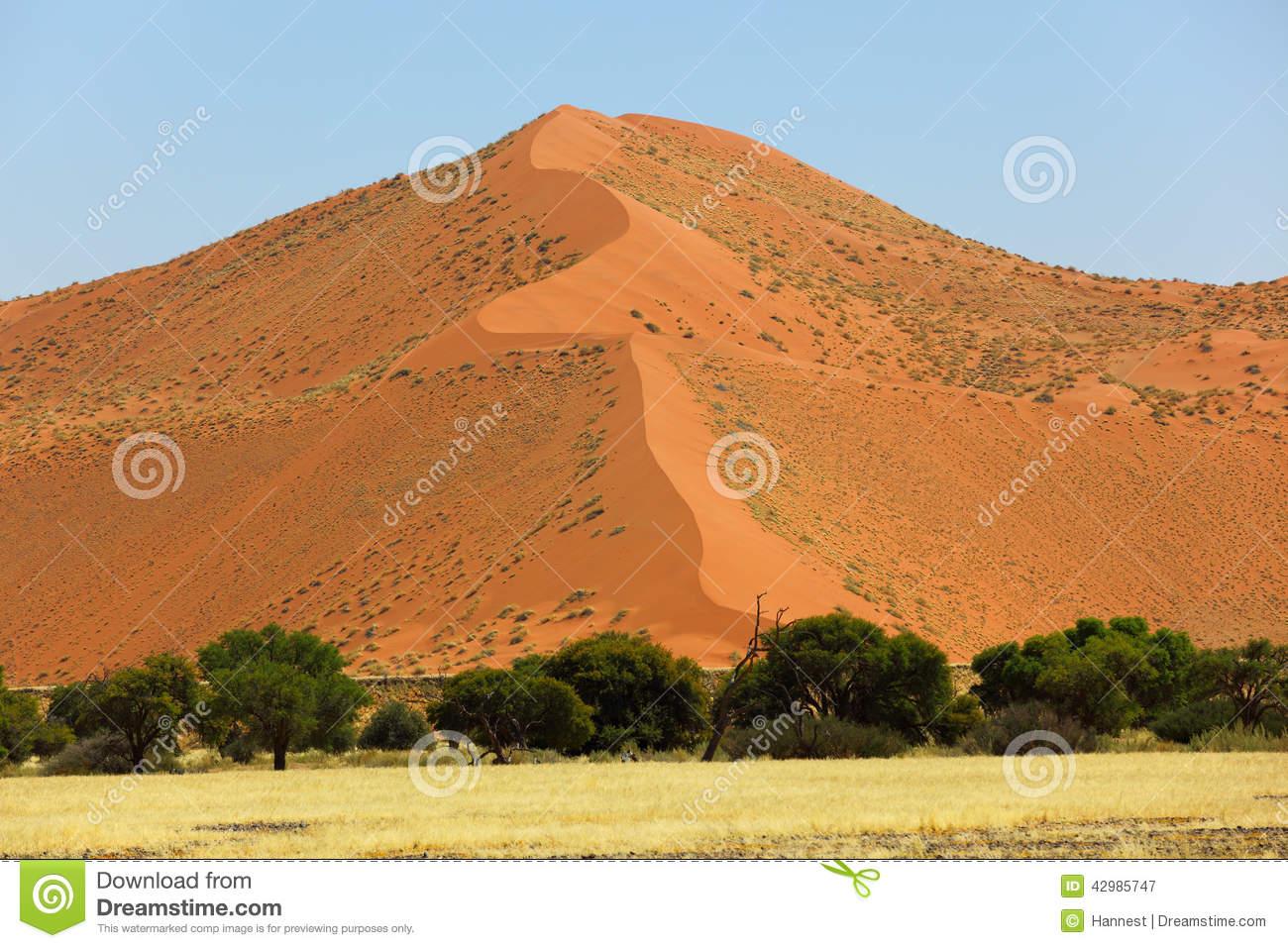 Big Red Sand Dune Stock Photo.