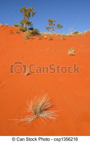 Pictures of Red desert sand dune Australia csp1356218.