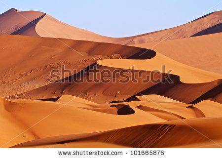 Red Sand Dunes Namibia Stock Photo 101665876.