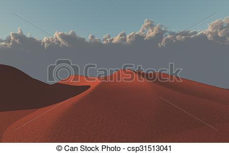 Drawing of Desert sand dunes csp31513041.