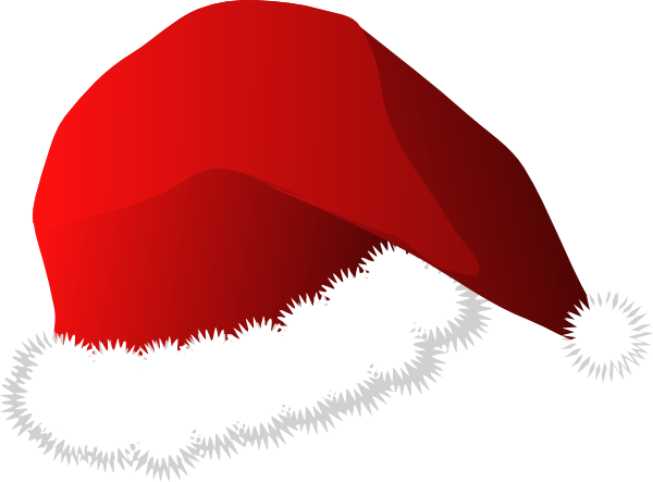 Santa hat free christmas hatloring pages clip art.