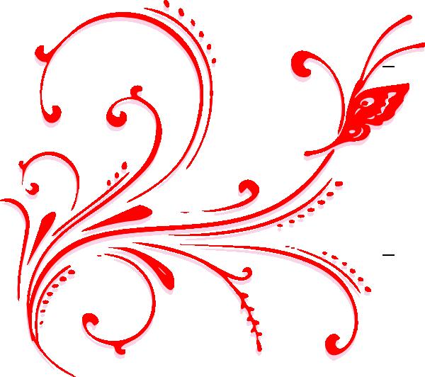 Butterfly Scroll Clip Art at Clker.com.