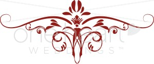 Red Iris Scroll Clipart.