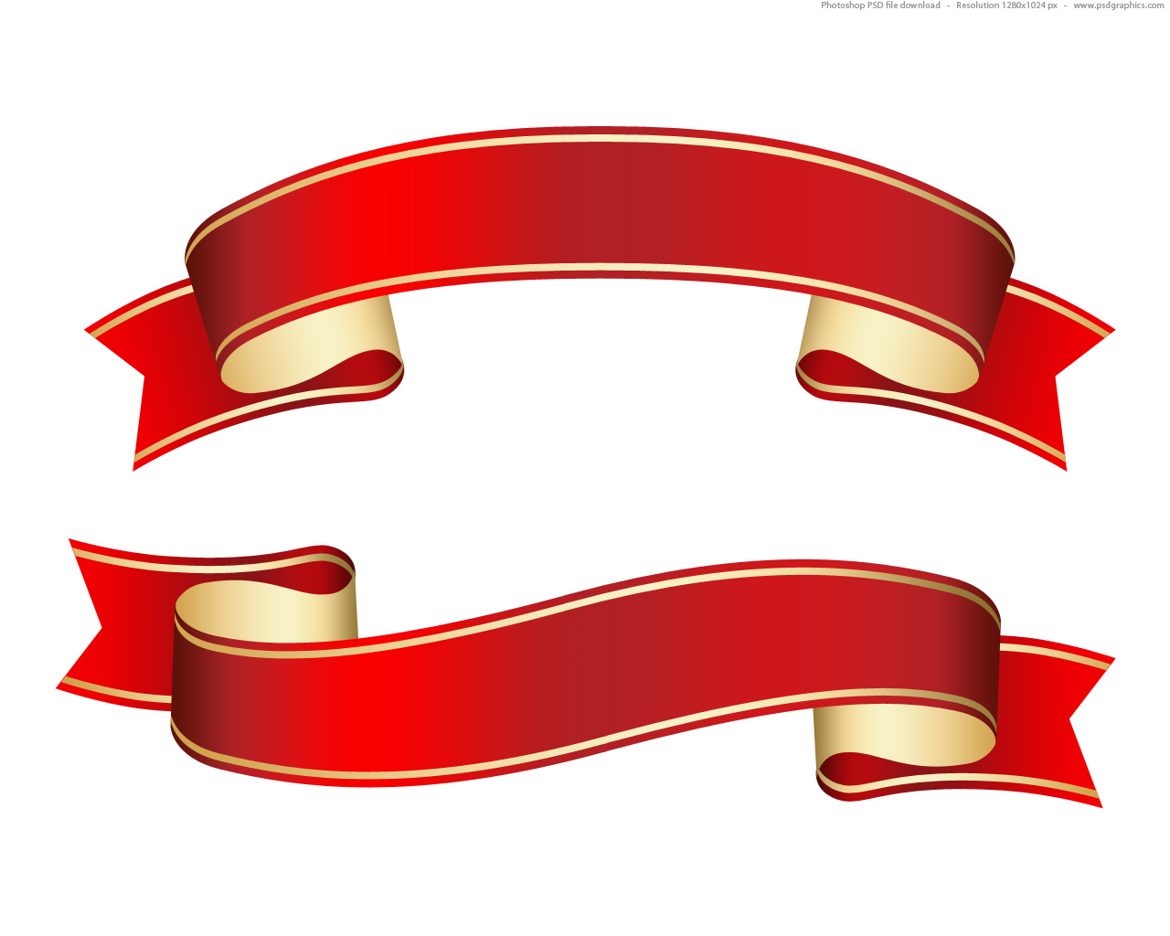 Red and green scroll clipart.