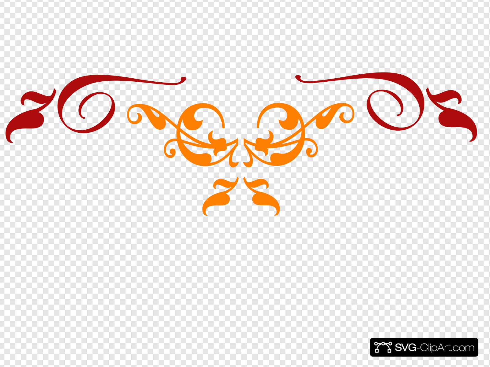 Orange Red Scroll 2 Clip art, Icon and SVG.