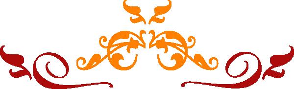 Orange Red Scroll Clip Art at Clker.com.