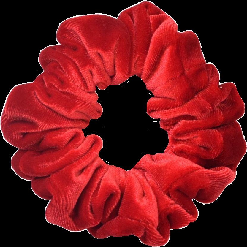 scrunchie scrunchies red cute darkred velvet texture.
