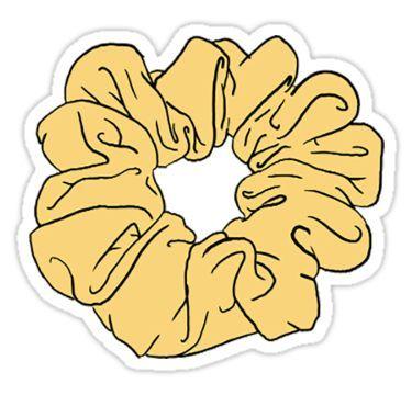 yellow scrunchie Sticker in 2019.