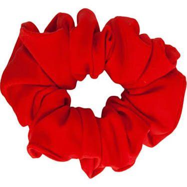 red scrunchie.