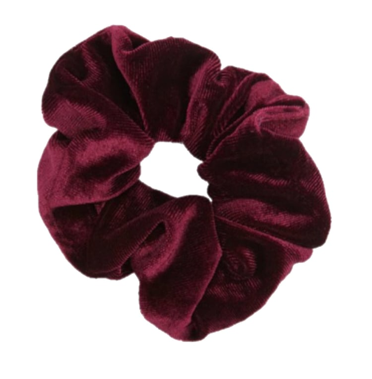 Dark red scrunchie discovered by Lill.
